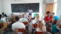 Besuch von Schulen und sozialen Einrichtungen