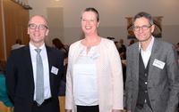 Für die drei Kandidierenden war es ein aufregender Wahlabend: (v.l.) Dr. Kartsen Schneider, Dorothea Goudefroy und Andreas Müller hatten für die Wahl zum Superintendenten kandidiert.