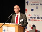 Erstmals leitete Dr. Schneider als Superintendent eine Synode des Ev. Kirchenkreises Unna